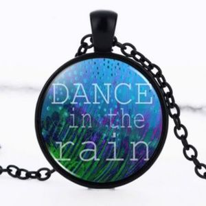Jewelry - Dance in the Rain Black Glass Necklace
